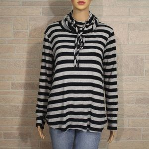 Staccato Drawstring Cowl Turtleneck Sweater Shirt